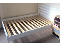 Double white bed frame, excellent condition