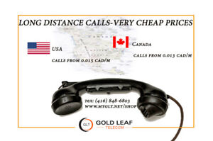long distance call to the USA and w/in Canada -very cheap