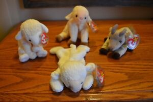 Ty Beanie Babies *Retired & Rare* - Set of 9 Farm Animals