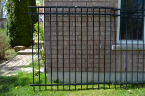 Wrought iron fence pieces