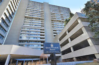 Rarely available corner unit in Queen Elizabeth Towers