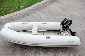 AB rigid inflatable boat(RIB)  - 10ft. Aluminum hull.