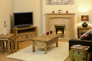 Corona Pine Furniture Living Room Mexican Solid Wood Tv Stand Coffee Table Nest Ebay