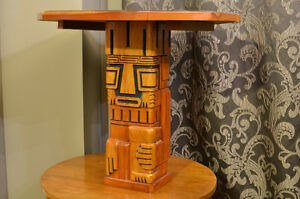 Aztec Hand Carved exotic Hard Wood Chest Set from South America