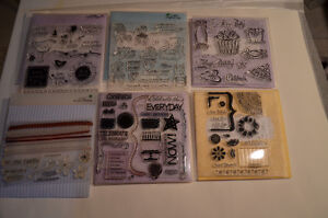 CTMH clear acrylic stamp sets $5ea
