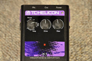 TC Helicon X1 distortion and megaphone voice pedal