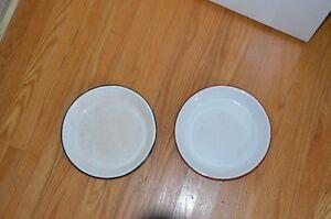 Vintage enamel pie plate