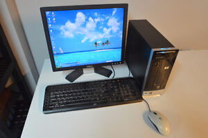 HP COMPUTER WITH MONITOR, KEYBOARD AND MOUSE