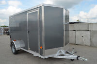 Aluminum Alcom Stealth 5X10 Enclosed Trailer with Ramp Gate
