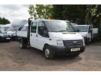 2013 FORD Transit 2.2 TDCI 350 125ps LWB double cab tipper DIESEL MANUAL