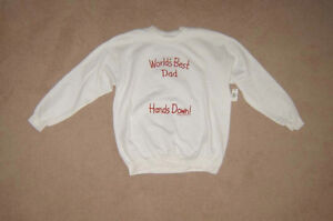 New Best Dad Sweatshirt, Coolmax & Reebok Shirt - sz XL