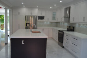 Custom kitchen, counter top, complete washroom and basement