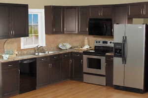 30% off for Espresso Shaker Frameless Kitchen Cabinets-Winnipeg
