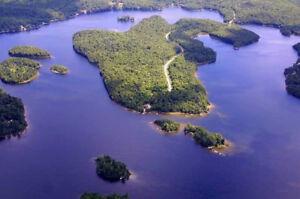 Nominingue-Bord de l'eau Lac Lesage-Terrain à construire