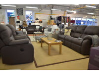 G Plan Mistral Brown Leather 3 piece Suite with Electric Recliners Half Price Ex Display!