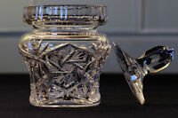 Pinwheel Crystal Jam or Condiments Jar *MINT*