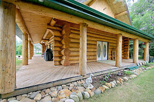 FOR SALE LOG HOME ON SMALL ACREAGE