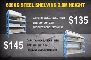 Blue and White Garage Shelving Long Span Warehouse Tyre Rack New Brisbane City Brisbane North West Preview