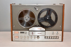 philips 4407 Reel-to Reel tape bobine 4 track tape player WORKS