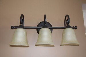 Matching pair of wall light with 3 sconces