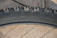 """For quick sale are assorted used 26"""" mountain bike tires"""