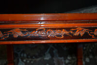Oriental Red Lacquer Tea Table