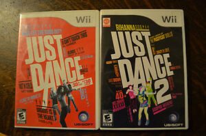 Wii Just Dance & Just Dance 2 Video Games - Complete