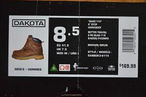 "NEW Unused Dakota Men's STCP Quad 6"" Work Boot – Sz 8.5"