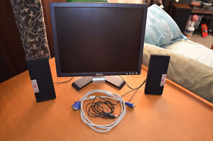 "17"" Flat Screen LCD Monitor PLUS Adjustable Stand + VGA Cable"