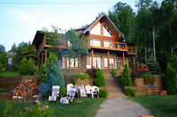 Waterfront Log Home/Cottage for Sale on Joe Lake in Hanmer