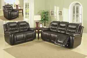 Recliner Sofa Set all 3 Pcs. 5 Recliners, Console in Love Seat