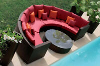 Rose outdoor wicker set - Teal/Red available - New