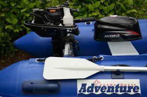 NEW SET 11 feet Adventure Inflatable Boat and 5HP outboard +more