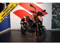 2017 17 KTM 125 DUKE 17 PRE-REG BARGAIN SAVE POUND;600.00