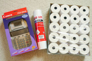 Canon P23-DHV 12 Digit Printing Calculator w/ Paper Rolls