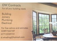 For all your building, Joinery, Plumbing and Electrical needs covering Belfast and Co.Down