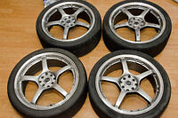 18 inches Core racing alloy rims with nitto neo gen tires
