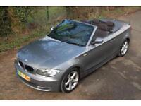 "2009 BMW 118D M SPORT CONVERTIBLE 2.0 TURBO DIESEL HEATED SEATS 17"" ALLOYS GREY"