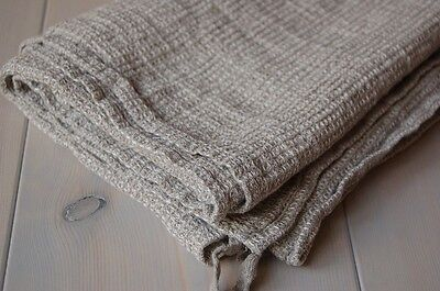 SOFT 100% NATURAL LINEN Flax Eco Waffle Bath TOWEL Made in Europe NEW