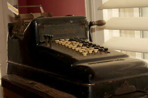 Vintage BURROUGHS ADDING MACHINE with crank. Must sell.