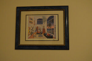 """""""Interior with Three Matisse"""" print by Fauch"""