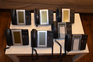 Complete Mitel VoIP system with SX-200 controller and 7 phones