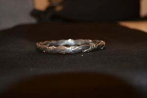 "925 SILVER Bracelet: Mexico; Stamped inside for both; 2 5/8"" Dia"