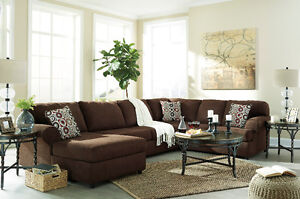 3 PIECE ASHLEY FURNITURE FABRIC SECTIONAL !!!HURRY!!!!