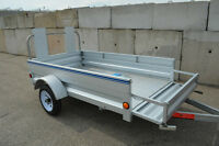 "4X7'3""Galvanized Trailer Extends to 8' 6"" Brand New! Summer Sale"