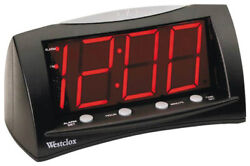 Westclox 66705A Large LED Alarm Clock, 1.8 Red Display