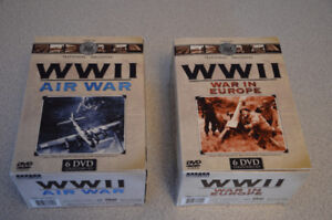 WW2 Archival Footage DVDs.  2 sets of 6 (12 DVDs total)