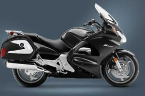 Hard Saddle bags Honda Street VFR1200F ST1300 CTX CB w/ Mounting Brackets 03-UP
