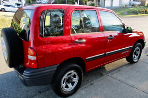 chevrolet tracker 4x4 standard A/C base no rust clean 4 cylinder