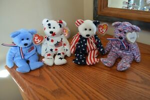 Ty Beanie Babies *Retired & Rare* - Set of 6 USA Exclusives